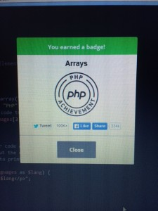 Array badge